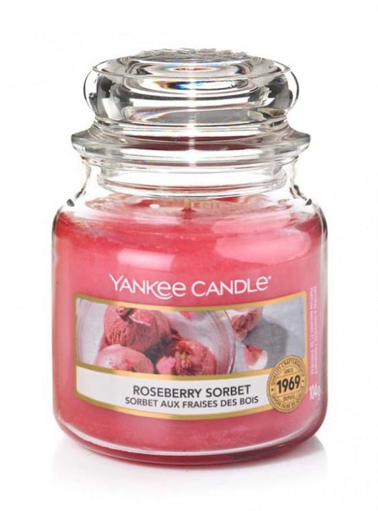 Aromatická svíčka, Yankee Candle Roseberry Sorbet, hoření až 30 hod-1233