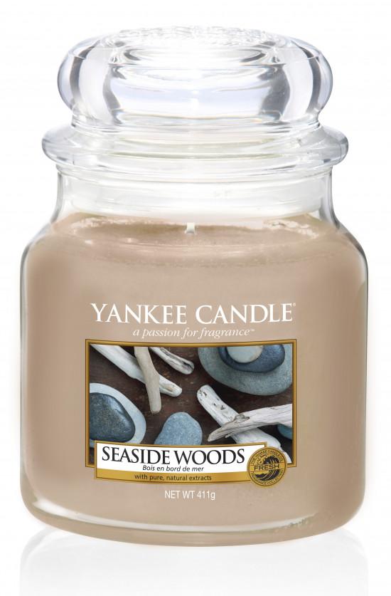 Aromatická svíčka, Yankee Candle Seaside Woods, hoření až 75 hod-1252