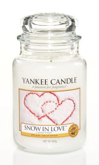 Aromatická svíčka, Yankee Candle Snow in Love, hoření až 150 hod