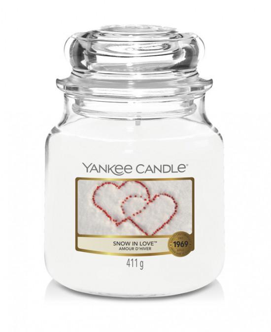 Aromatická svíčka, Yankee Candle Snow in Love, hoření až 75 hod