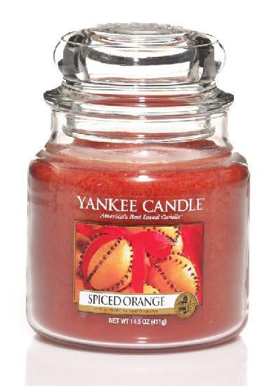 Aromatická svíčka, Yankee Candle Spiced Orange, hoření až 75 hod