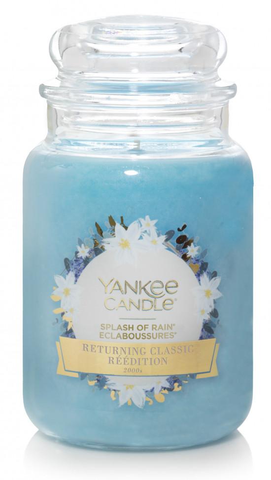 Aromatická svíčka, Yankee Candle Splash of Rain, hoření až 150 hod-845