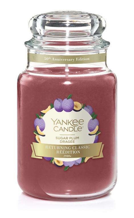 Aromatická svíčka, Yankee Candle Sugar Plum, hoření až 150 hod-199