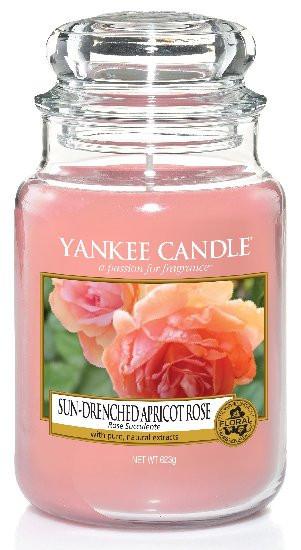Aromatická svíčka, Yankee Candle Sun-Drenched Apricot Rose, hoření až 150 hod-970