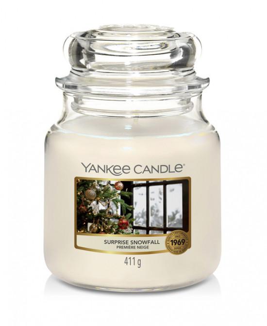Aromatická svíčka, Yankee Candle Surprise Snowfall, hoření až 75 hod-4953