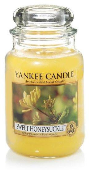 Aromatická svíčka, Yankee Candle Sweet Honeysuckle, hoření až 150 hod-4828