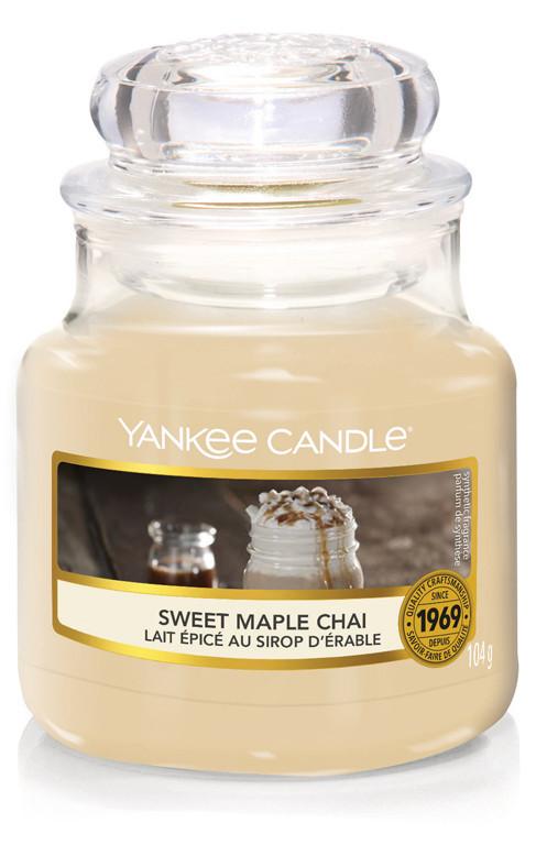 Aromatická svíčka, Yankee Candle Sweet Maple Chai, hoření až 30 hod