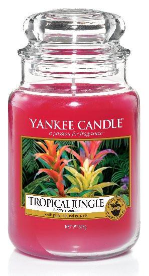 Aromatická svíčka, Yankee Candle Tropical Jungle, hoření až 150 hod