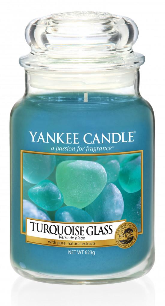 Aromatická svíčka, Yankee Candle Turquoise Glass, hoření až 150 hod-4860