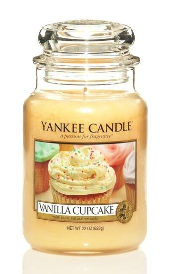 Aromatická svíčka, Yankee Candle Vanilla Cupcake, hoření až 150 hod