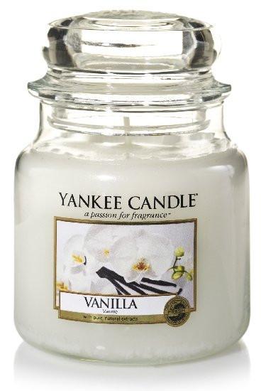 Aromatická svíčka, Yankee Candle Vanilla, hoření až 75 hod-1063