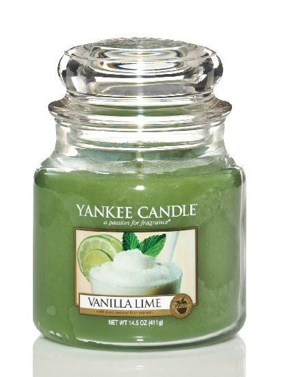 Aromatická svíčka, Yankee Candle Vanilla Lime, hoření až 75 hod