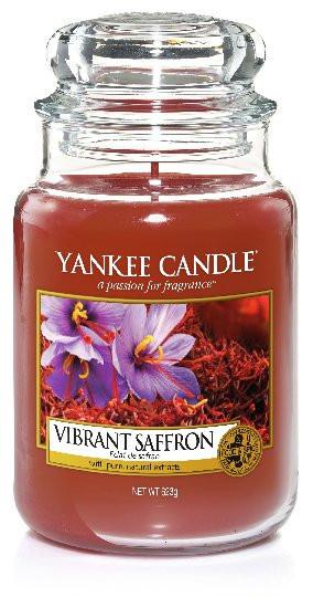 Aromatická svíčka, Yankee Candle Vibrant Saffron, hoření až 150 hod