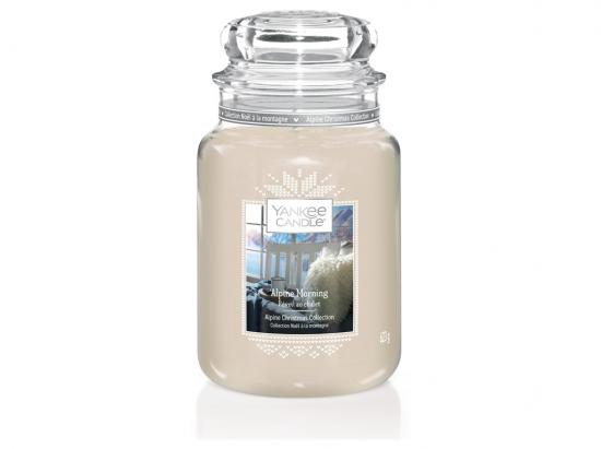 Aromatická svíčka, Yankee Candle Winter Alpine Morning, hoření až 150 hod-3249