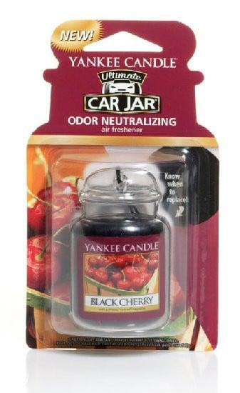 Aromatická visačka do auta, Yankee Candle Black Cherry, gelová, provonění až 4 týdny-1031
