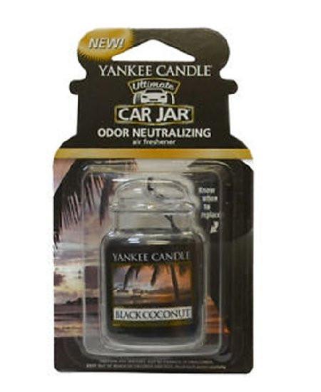 Aromatická visačka do auta, Yankee Candle Black Coconut, gelová, provonění až 4 týdny-722