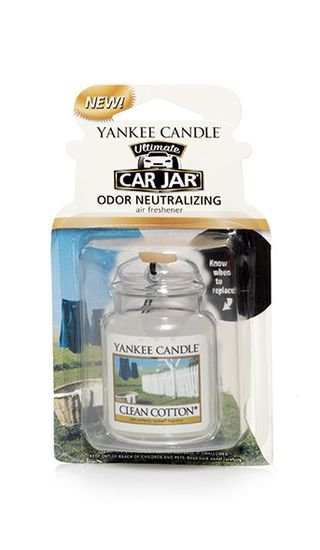 Aromatická visačka do auta, Yankee Candle Clean Cotton, gelová, provonění až 4 týdny