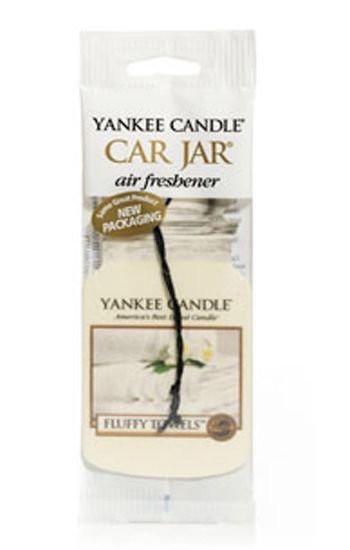 Aromatická visačka do auta, Yankee Candle Fluffy Towels, papírová, provonění až 4 týdny-639