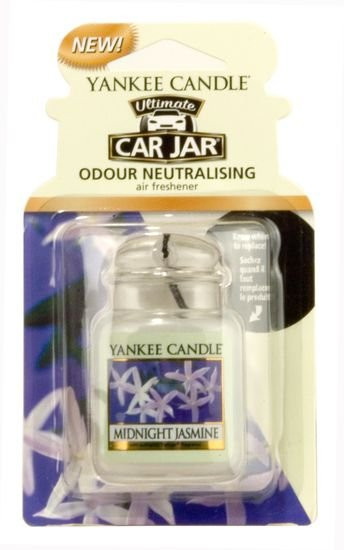 Aromatická visačka do auta, Yankee Candle Midnight jasmine, gelová, provonění až 4 týdny