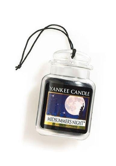 Aromatická visačka do auta, Yankee Candle Midsummer´s Night, gelová, provonění až 4 týdny-197