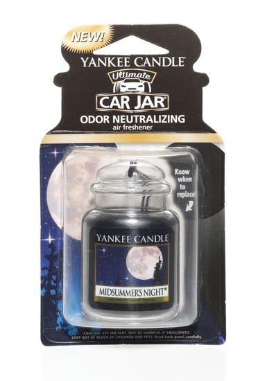 Aromatická visačka do auta, Yankee Candle Midsummer´s Night, gelová, provonění až 4 týdny-940