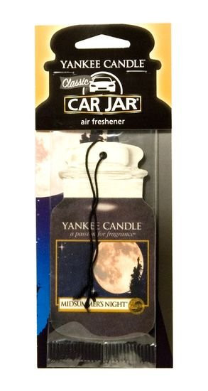 Aromatická visačka do auta, Yankee Candle Midsummer´s Night, papírová, provonění až 4 týdny-942