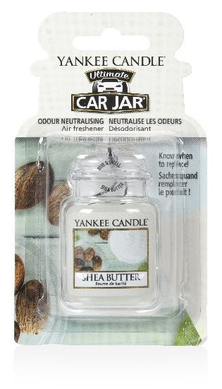 Aromatická visačka do auta, Yankee Candle Shea Butter, gelová, provonění až 4 týdny-242