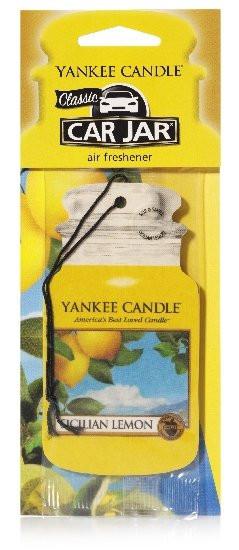 Aromatická visačka do auta, Yankee Candle Sicilian Lemon, papírová, provonění až 4 týdny