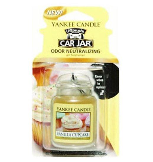 Aromatická visačka do auta, Yankee Candle Vanilla Cupcake, gelová, provonění až 4 týdny-844