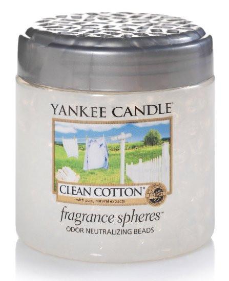 Aromatické perly, Yankee Candle Spheres Clean Cotton, provonění až 4 týdny