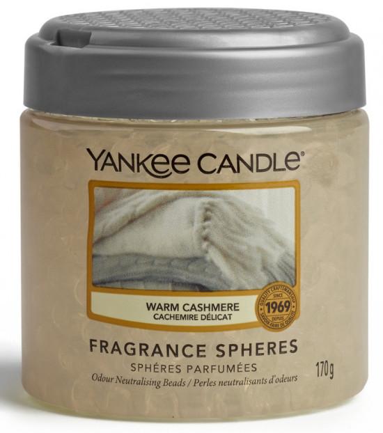 Aromatické perly, Yankee Candle Spheres Warm Cashmere, provonění až 4 týdny