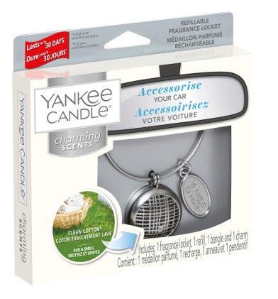Aromatický přívěsek do auta, Yankee Candle Charming Scents Clean Cotton-561