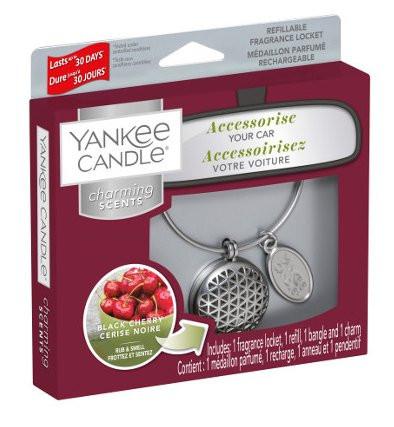 Aromatický přívěsek do auta, Yankee Candle Charming Scents Geometric Black Cherry