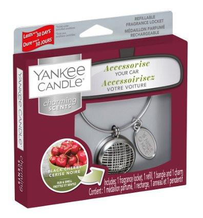 Aromatický přívěsek do auta, Yankee Candle Charming Scents Linear Black Cherry