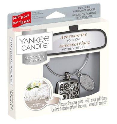 Aromatický přívěsek do auta, Yankee Candle Charming Scents Square Fluffy Towels-139