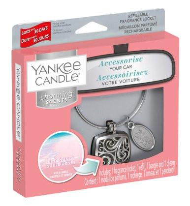 Aromatický přívěsek do auta, Yankee Candle Charming Scents Square Pink Sands-1239