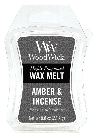 Aromatický vosk, WoodWick Amber & Incense, provonění minimálně 8 hod-364
