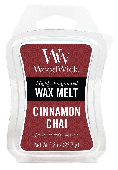 Aromatický vosk, WoodWick Cinnamon Chai, provonění minimálně 8 hod