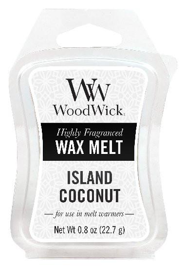 Aromatický vosk, WoodWick Island Coconut, provonění minimálně 8 hod-520