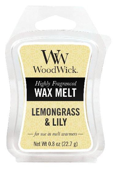 Aromatický vosk, WoodWick Lemongrass & Lily, provonění minimálně 8 hod-347