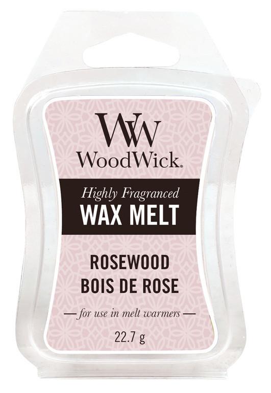 Aromatický vosk, WoodWick Rosewood, provonění minimálně 8 hod