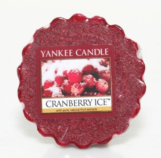 Aromatický vosk, Yankee Candle Cranberry Ice, provonění až 8 hod