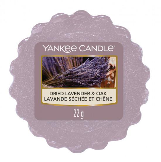 Aromatický vosk, Yankee Candle Dried Lavender & Oak, provonění až 8 hod-1141