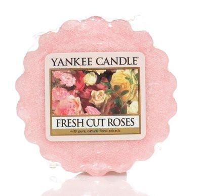 Aromatický vosk, Yankee Candle Fresh Cut Roses, provonění až 8 hod