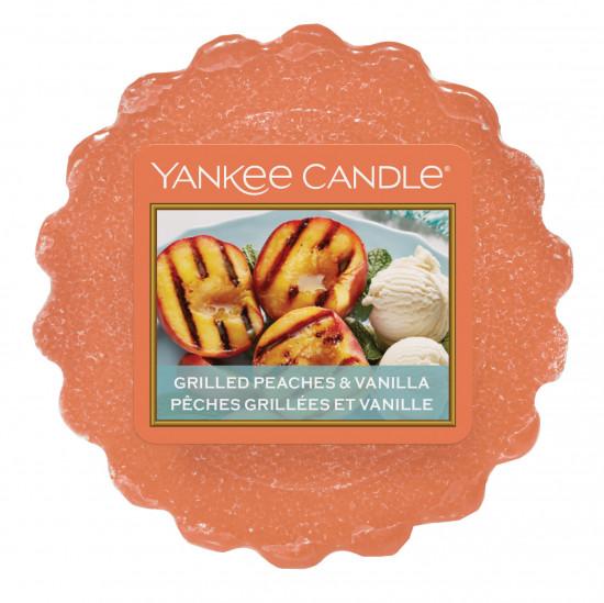 Aromatický vosk, Yankee Candle Grilled Peaches & Vanilla, provonění až 8 hod