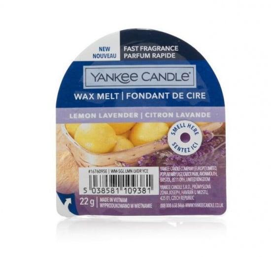 Aromatický vosk, Yankee Candle Lemon Lavender, nový, provonění až 8 hod