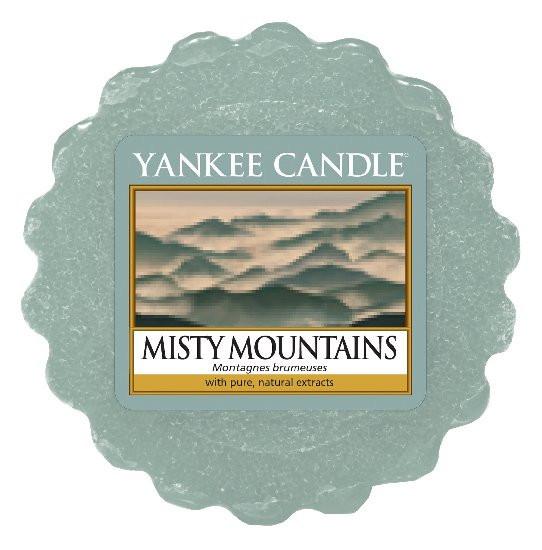 Aromatický vosk, Yankee Candle Misty Mountains, provonění až 8 hod