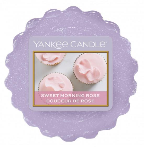 Aromatický vosk, Yankee Candle Sweet Morning Rose, provonění až 8 hod-1118