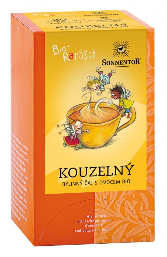 BIO bylinný čaj s ovocem, Sonnentor Bio Rarášci - Kouzelný, porcovaný, 20 sáčků-2080