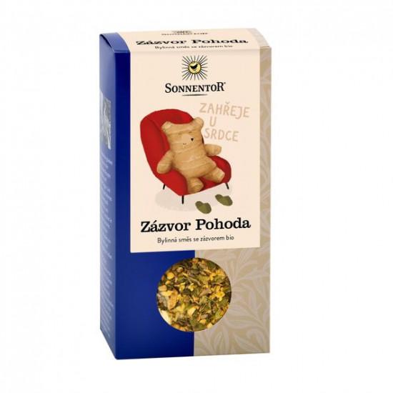BIO bylinný čaj se zázvorem, Sonnentor Zázvor Pohoda, sypaný, 60 g